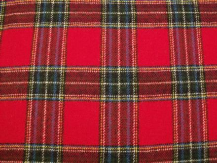 Wool Rich Plaid Tartan Fabric BZ16